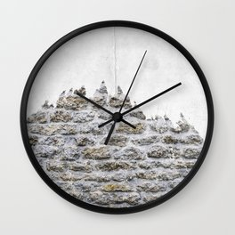Stone and Tree Wall Clock