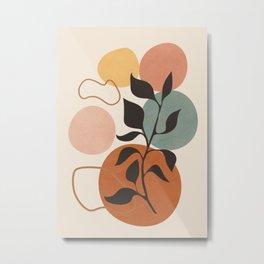 Abstract Minimal Shapes 23 Metal Print