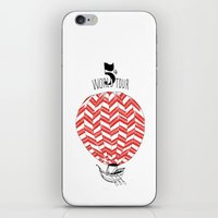 baloon iPhone & iPod Skins featuring Baloon by Pauline Midon