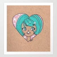 Little Cutie Heart Two Art Print