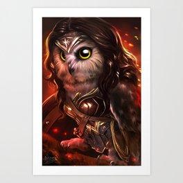wonder owl Art Print