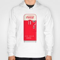 coke Hoodies featuring Vintage Coke Machinge by Michael Walchalk