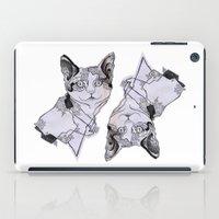 fat iPad Cases featuring fat cat by vasodelirium