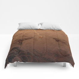 Chute dans Jupiter Comforters