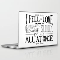 the fault Laptop & iPad Skins featuring The Fault in our Stars by Chan Xing Yun