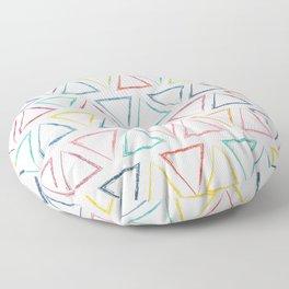 Triangular Peaks Pattern - Rainbow #622 Floor Pillow