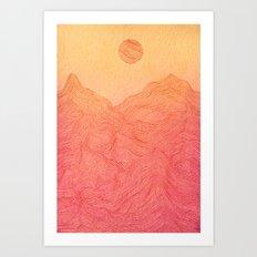 Sunset Mountain - 2 Art Print
