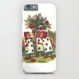 Painting the roses red iPhone Case