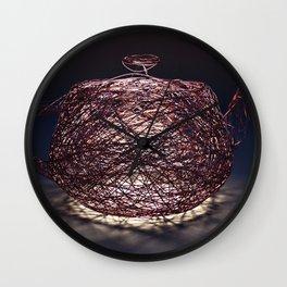 Wire Nest Wall Clock