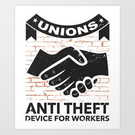 Labor Union of America Pro Union Worker Protest Light Art Print