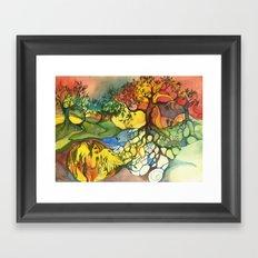 Birth Framed Art Print