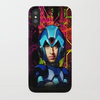 megaman iPhone & iPod Cases featuring Megaman wolowitz by seb mcnulty