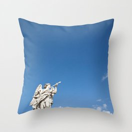 Guarded By Angels Throw Pillow