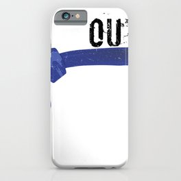 MMA Fighter Belt Tap Out Before You Black Out Gift iPhone Case