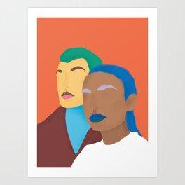 Humains Art Print