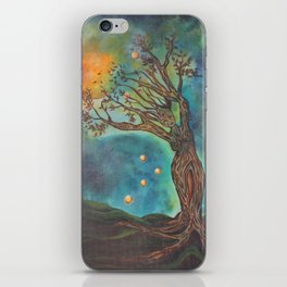 Goddess Bridget Surrealist Acrylic Painting iPhone Skin
