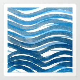 Ocean's Skin Art Print