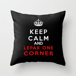 Keep Calm & Lepak One Corner Throw Pillow