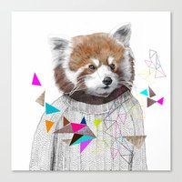 kris tate Canvas Prints featuring RED PANDA by Jamie Mitchell and Kris Tate by Kris Tate