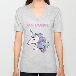 On Point Unicorn Unisex V-Neck
