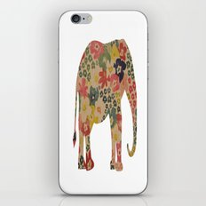 Flower Power Elephant iPhone & iPod Skin