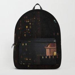 New York City Night Skyline landscape by Georgia O'Keeffe Backpack