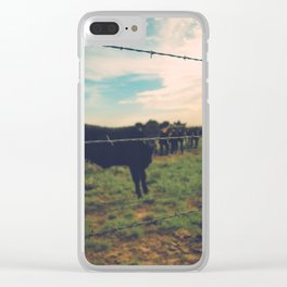 West Texas Cows Clear iPhone Case