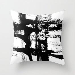 Brush Stroke Art Throw Pillow