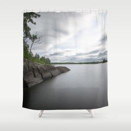 Boundary Waters Gabbro Lake Shower Curtain