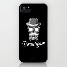 Gentlemen Groom Wedding Shower iPhone Case