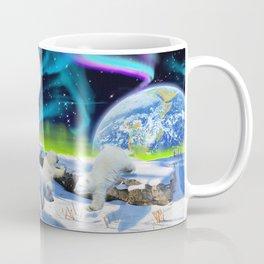 Joyful - Polar Bear Cubs and Planet Earth Coffee Mug