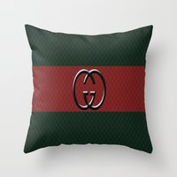 gucci Throw Pillows featuring Gucci 1 by Beauti Asylum