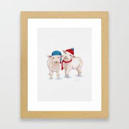 Winter Lambs Framed Art Print