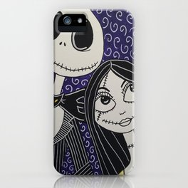 Jack Skellington and Sally iPhone Case