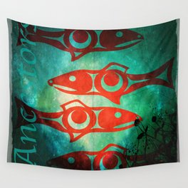 Protect Our Sacred Salmon Wall Tapestry