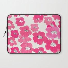 Camellia Flowers in Pink Laptop Sleeve