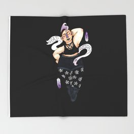 Fat Witch Pride Throw Blanket