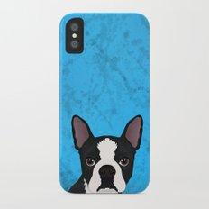 Boston terrier iPhone X Slim Case