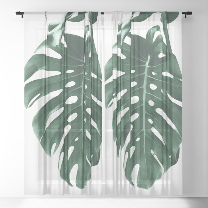 Monstera Delight #4 #tropical #decor #art #society6 Sheer Curtain