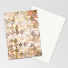 MERMAID GOLD Stationery Cards