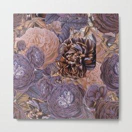 Vintage & Shabby-chic - floral purple roses flowers rose flower Metal Print