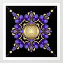 Purple Satin Golden Peace by webgrrl