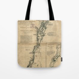 Vintage Map of Lake Champlain & Lake George (1776) Tote Bag