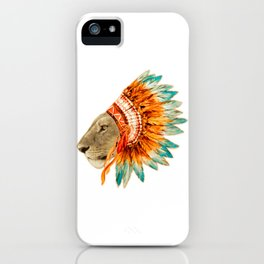 The Feminist - Chief Lioness - colors iPhone Case