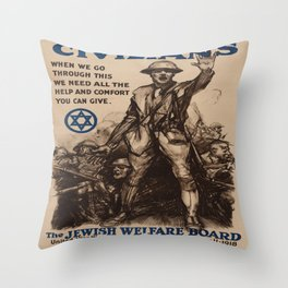 Vintage poster - National Jewish Welfare Board Throw Pillow