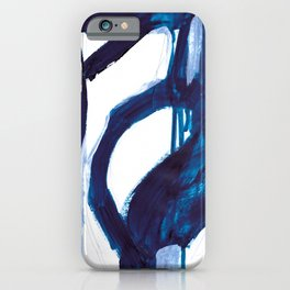Blue Abstract iPhone Case