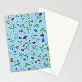 Colorful Flower Toss Stationery Cards