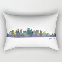 Boston Massachusetts City Skyline Hq V1 Rectangular Pillow
