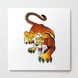 Japanese Tiger Metal Print