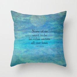 Sea Ocean Jane Austen quote Throw Pillow
